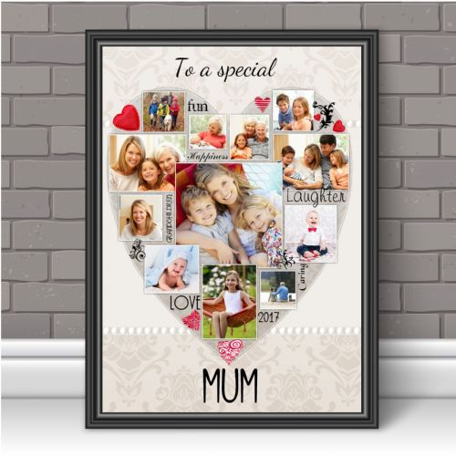Personalised Special Mum Photo Poster Print Word Art Keepsake Gift N123 Unframed